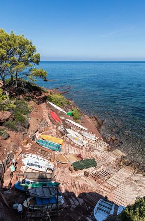 Boats in Port des Canonge, Majorca (Balearic Islands, Spain)