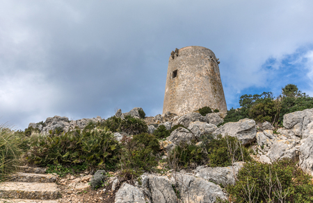 Albercutx watchtower in Pollenca, Majorca (Balearic Islands, Spain)
