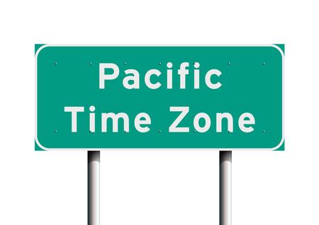 Señal de tráfico de zona horaria del Pacífico Foto de archivo - 89722454