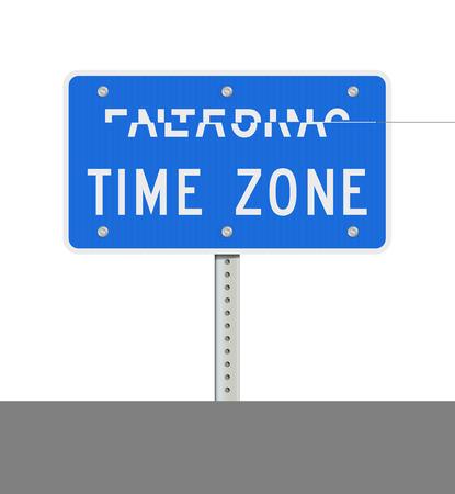 Entering Alaska Time Zone road sign