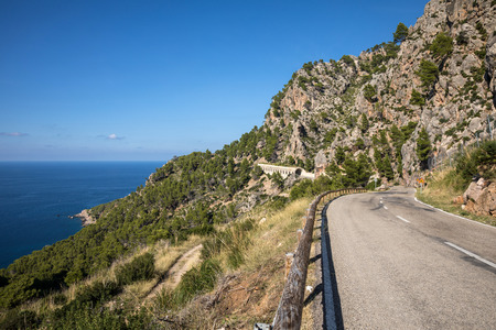 Mountain road in the Serra de Tramuntana, Majorca (Balearic Islands, Spain)