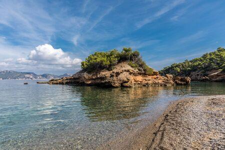 Small island on sIllot beach, Majorca (Balearic Islands, Spain)