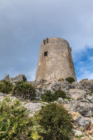 Albercutx watchtower in Pollenca, Majorca (Balearic Islands, Spain)