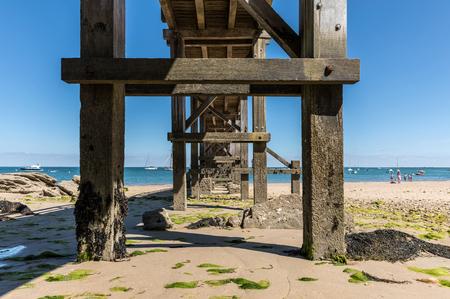 Under the landing stage of la plage des Dames (Noirmoutier, France)
