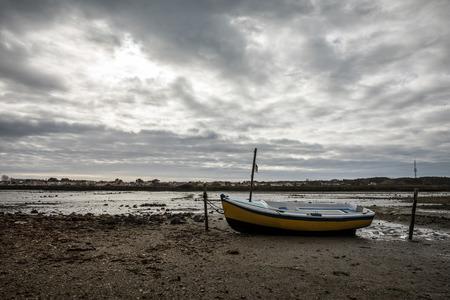 Dry boat on la Chnou (Swamp in Olonne sur mer, France)