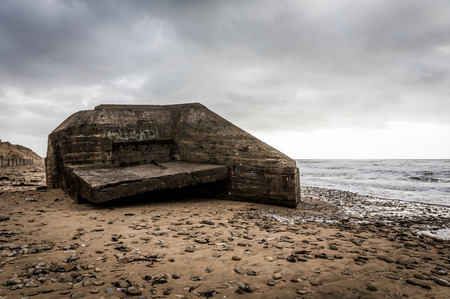 Grand Pointe casemate in Olonne sur Mer (Vendee, France) Stock Photo