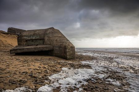 Grand Pointe casemate in Olonne sur Mer (Vendee, France) Stock Photo