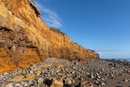 Cliffs along of the Cayola coast (Les Sables dOlonne, France)