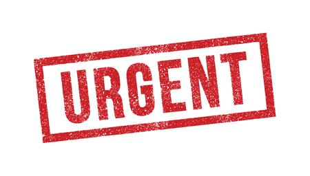 Urgent red ink stamp vector illustration. Illustration