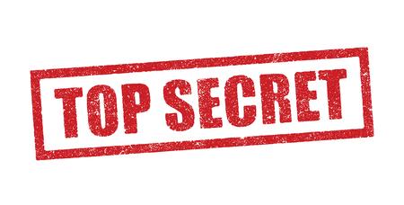 Illustration vectorielle du mot Top Secret en cachet d'encre rouge