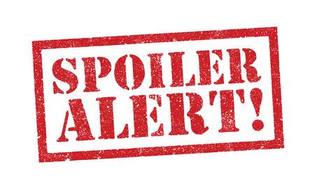 Vector illustration of the word Spoiler Alert in red ink stamp Ilustração Vetorial