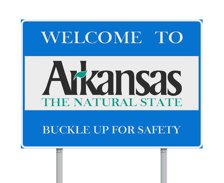 Welcome to Arkansas road sign Illustration