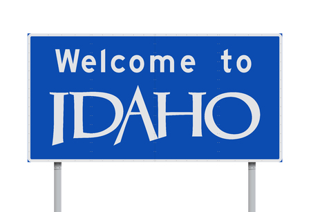 Welcome to Idaho road sign