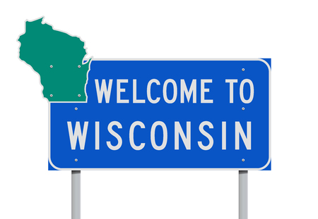 Welcome to Wisconsin road sign