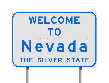 Welcome to Nevada road sign Stock Illustratie