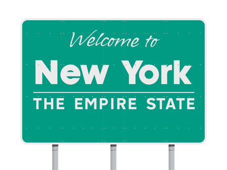 Welcome to New York road sign
