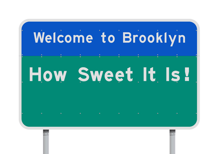 Welcome to Brooklyn entrance road sign