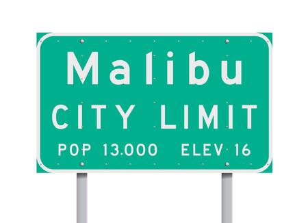 Malibu City Limit road sign