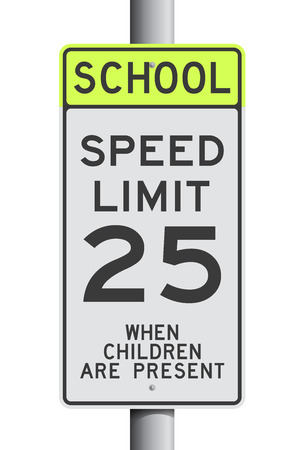 School Speed Limit road sign