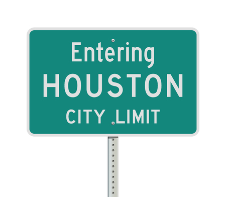 Entering Houston City Limit road sign