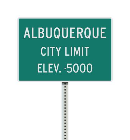 Albuquerque City Limit road sign