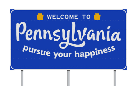 Welcome to Pennsylvania road sign