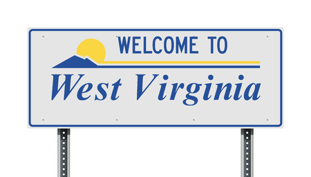Welcome to West Virginia road sign 免版税图像 - 117720619