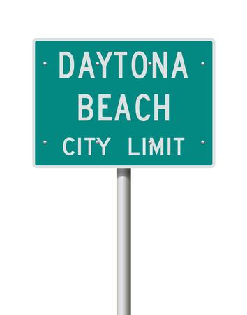 Daytona Beach City Limit road sign