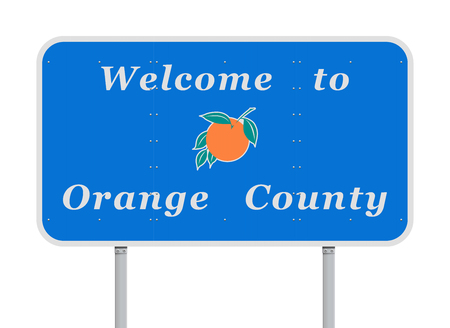 Welcome to Orange County road sign