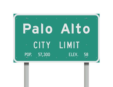 Palo Alto City Limit road sign