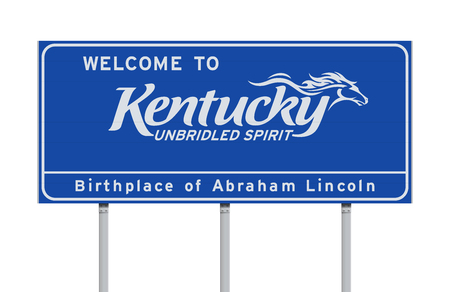 Welcome to Kentucky road sign Stok Fotoğraf - 117721104