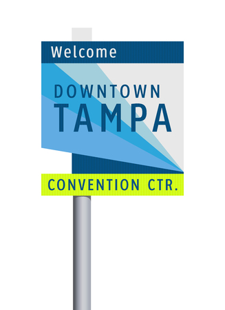 Welcome to Tampa Downtown road sign