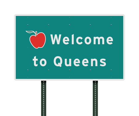 Welcome to Queens road sign