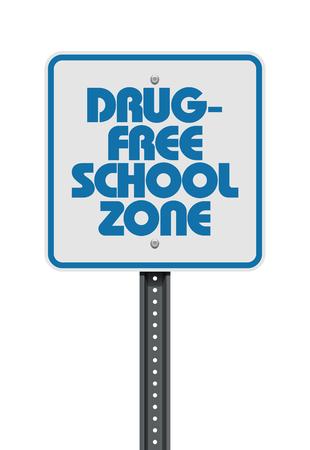 Señal de zona escolar libre de drogas 2