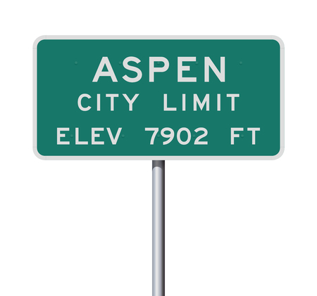 Aspen City Limit road sign