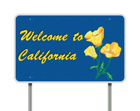 Welcome to California road sign