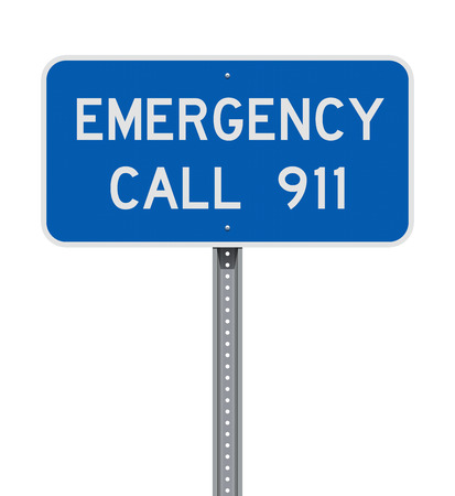 Emergency Call 911 road sign