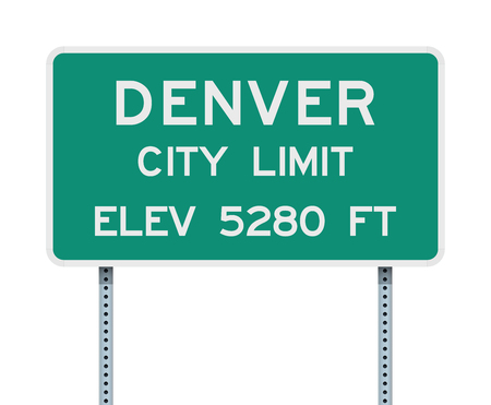Denver City Limit road sign