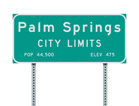 Palm Springs City Limits road sign