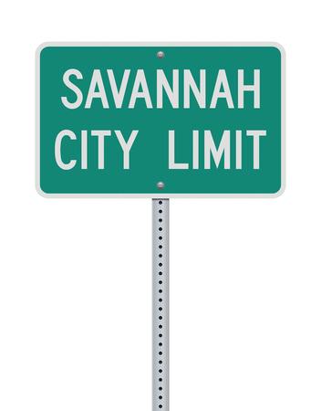 Straßenschild Savannah City Limit Vektorgrafik