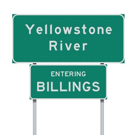 Entering Billings and Yellowstone river road signs