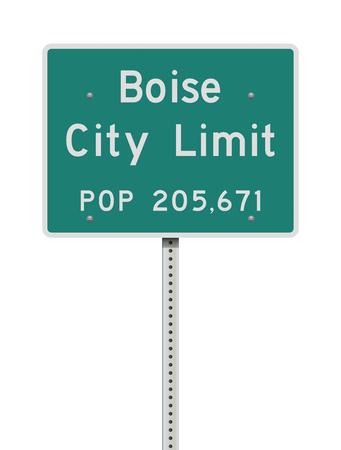 Boise City Limit road sign