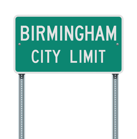 Birmingham City Limit road sign Illustration