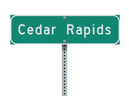 Cedar Rapids road sign Illusztráció