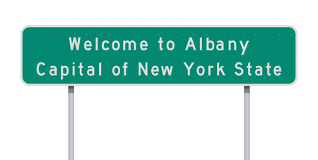 Welcome to Albany road sign