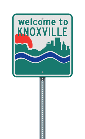Welcome to Knoxville road sign