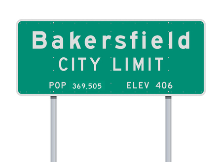 Bakersfield City Limit road sign