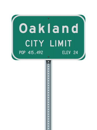 Oakland City Limit road sign