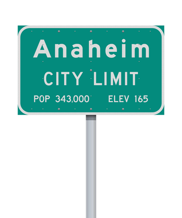 Anaheim City Limit road sign Çizim