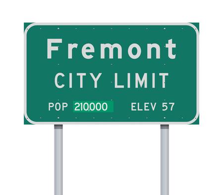 Fremont City Limit road sign  イラスト・ベクター素材